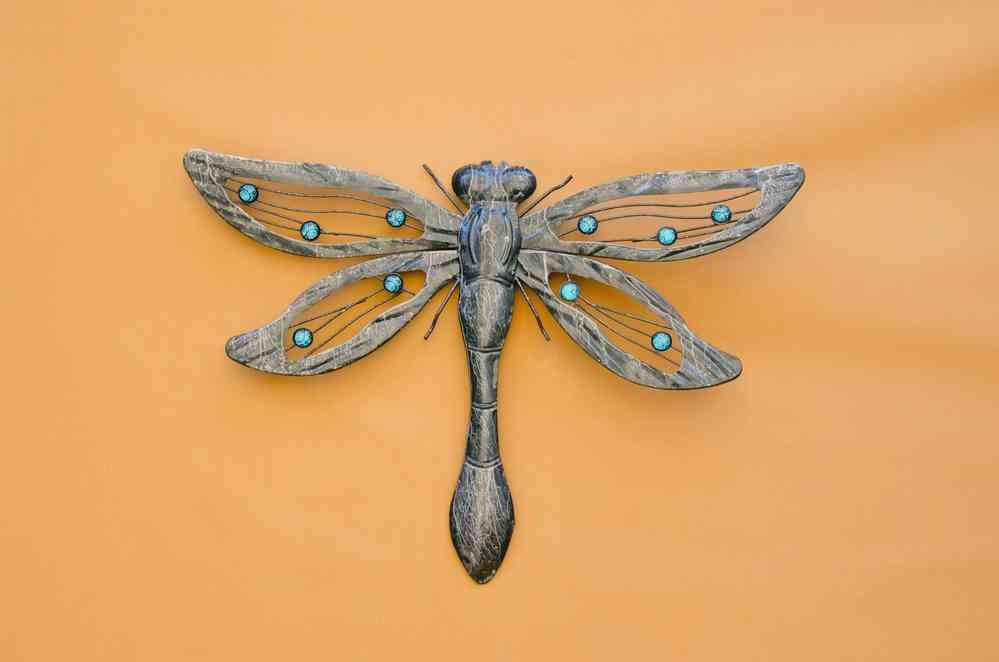 libelle metall gross silber anthrazit